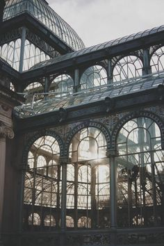 Conservatory & Greenhouse | Morning light through the classic arched windows #conservatorygreenhouse