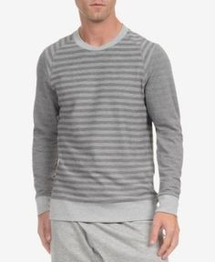 2(x)ist Men's Terry Striped Thermal - Gray