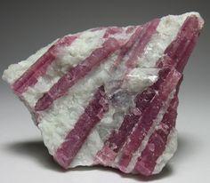 Pink Tourmaline crystals in Quartz / Minas Gerais, Brazil / Mineral Friends <3