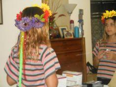Rainbow crown i made