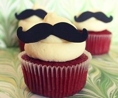 I do not claim any of these delicious cupcakes as my own. Nom on my little cupcakes. Everyone loves a fucking cupcake Moustache Cupcakes, Mustache Party, Mustache Theme, Mustache Birthday, 30th Birthday, Birthday Ideas, Hubby Birthday, Red Velvet Cupcakes, Mustache Decorations