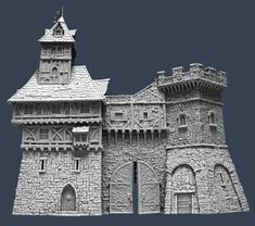 Photo by TabletopWorld Cardboard Box Crafts, Cardboard Castle, Model Castle, Medieval Fantasy, History Medieval, Medieval Times, Ancient History, Fantasy World Map, Chalkboard Drawings
