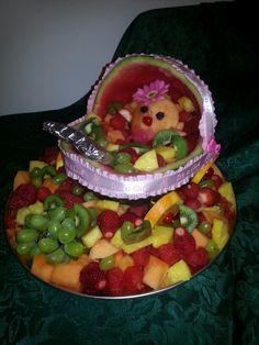 Watermelon baby stroller fruit tray
