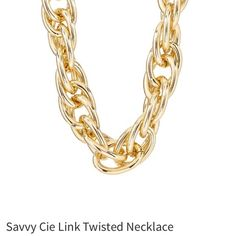 Large gold chain necklace will do lower on PayPal Large gold chain necklace from Nordstrom's, worn only once for prom, a great timeless statement piece that you can dress up or down. Savvy Cie Jewelry Necklaces