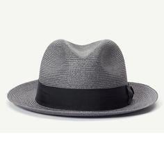68a51b0655160 The Gilder hemp straw classic brim fedora Men s hat with 2