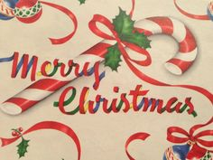 Vintage Christmas Gift Wrapping Paper  Red by TheGOOSEandTheHOUND, $3.75