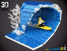 Awesome Lego creation,  The Surfer by tiberium_blue