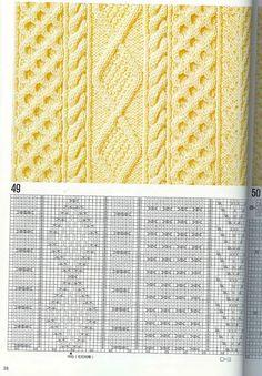 "Photo from album ""Узоры спицами on Yandex. Kids Knitting Patterns, Knitting Charts, Knitting Designs, Knitting Stitches, Hand Knitting, Crochet Patterns, Beginner Crochet Tutorial, Pattern Books, Stitch Patterns"