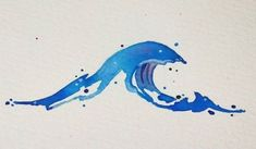 Tattoo Wave Watercolor Water Colors 66 Ideas For 2019 Watercolor Wave, Watercolor Sketch, Watercolor Tattoo, Watercolor Paintings, Trendy Tattoos, Small Tattoos, Girl Tattoos, Wave Tattoos, Daughter Tattoos