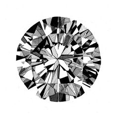 This is a fantastic print of a hand drawn diamond. Drawn in pen and ink, you could be the owner of a piece of bling worthy of Elizabeth Taylor!