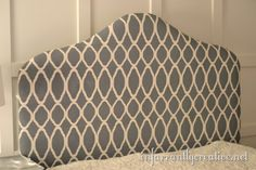 stencil you upholstered headboard!