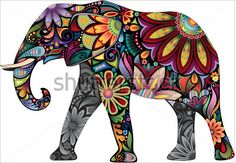I like the flower like designs used to fill the elephant to give it a cultural feel. I also have a small obsession with elephants.