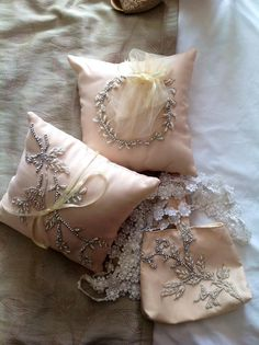 Ring & Coin Pillow with Lace Cord and Money Pouch