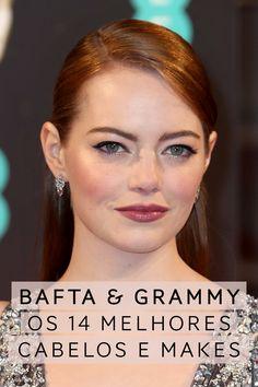 Meus makes e cabelos favoritos do Grammy e BAFTA. Vic Ceridono | Dia de Beauté