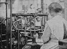 Carbon Lamp Sealing c.1910 at Edison-Swan Electric Company, Ponders End, north London.