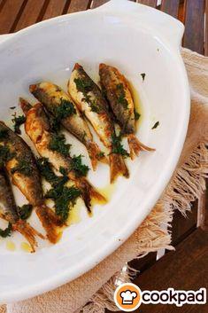 Sardines with dill pesto – Shellfish Recipes Shellfish Recipes, Pesto, Zucchini, Seafood, Chicken, Vegetables, Seafood Recipes, Sea Food, Veggies