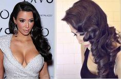 ★KIM KARDASHIAN HAIR TUTORIAL: CURLY VINTAGE HAIRSTYLES  HOW TO CURL YOUR HAIR FOR MEDIUM LONG HAIR