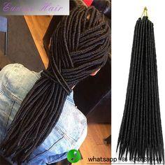 (1PIECE ONLY)18inch 120g Faux Locs Crochet Braids Eunice Dreads Braiding Dreadloc Hair Synthetic Hair Extension
