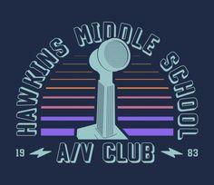 Hawkins Middle AV Club T-Shirt - Stranger Things T-Shirt is $15 at TeeFury!