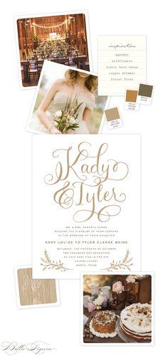 Rustic Harvest wedding invitation inspiration