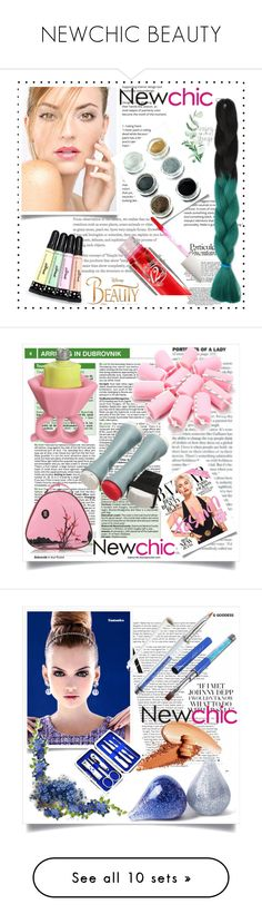 """""""NEWCHIC BEAUTY"""" by mamiigou ❤ liked on Polyvore featuring beauty, Disney and Ÿù"""