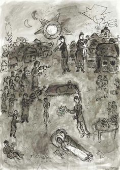 Marc Chagall (1887-1985) Le soleil flamboyant