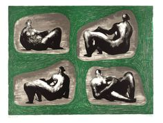 Henry Moore OM, CH - Four Reclining Figures: Caves 1974