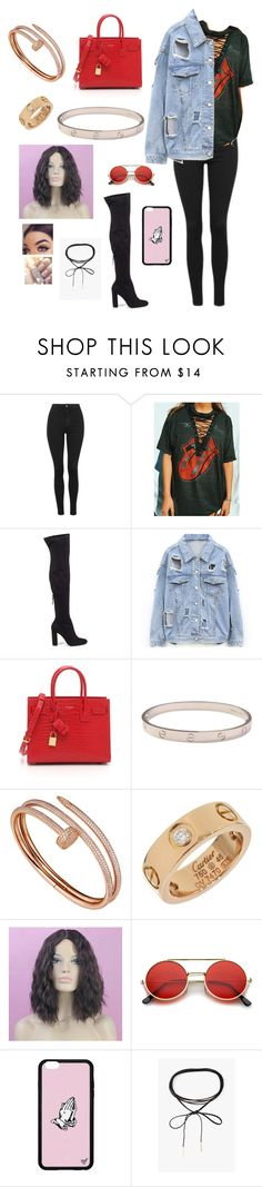 """Untitled #50"" by shania-collier on Polyvore featuring Topshop, Steve Madden, Yves Saint Laurent, Cartier, ZeroUV and Azalea"