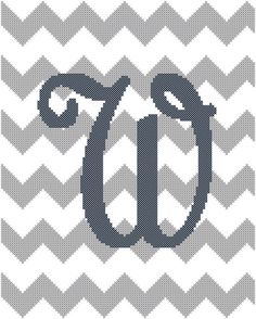 Chevron Letter P Grey and Navy Blue Cross by oneofakindbabydesign, $6.95