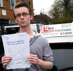 Driving Lessons in Northampton:  Congratulations to Jack Hart who passed his practical Driving Test 1st time today, the 18th November 2015, and with only 3 Driving faults. Very well done and best wishes from your Driving Instructor Nigel and all of us here at Flexdrive Driving School.