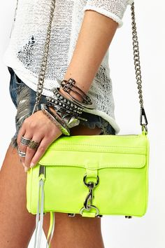 Mini M.A.C. Clutch - Neon Yellow in  Clothes at Nasty Gal