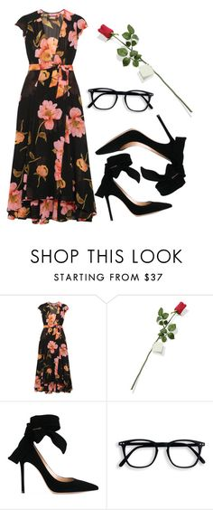 """Valentine, where are you?"" by lieneofficial on Polyvore featuring Reformation, Hanky Panky and Gianvito Rossi"
