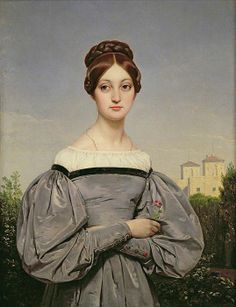 1833Portrait of Louise Vernet Greeting Card