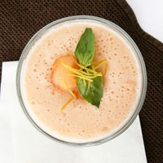 chilled melon soup made with yogurt, lemon and ginger for a light ...
