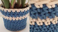 Macrame Crochet Planter Cover Free Crochet Pattern - Right Handed