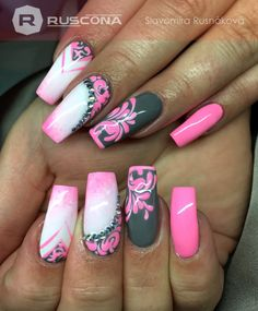 I love the colors, but definitely shorter nails Nail Design Ideas! is part of nails - I love the colors, but definitely shorter nails Source by Colorful Nail Designs, Toe Nail Designs, Beautiful Nail Designs, Acrylic Nail Designs, Sexy Nails, Fancy Nails, Love Nails, Fabulous Nails, Gorgeous Nails