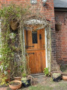Lock Keepers Cottage door, Park Hall, Walsall, England (All Original Photography… Portal, Cottage Door, When One Door Closes, Walsall, Dutch Door, House Doors, Grand Entrance, Stone Houses, Closed Doors