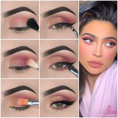 Makeup pictorial tutorial by Makeup Eye Looks, Eye Makeup Steps, Eye Makeup Art, Natural Eye Makeup, Eyeshadow Makeup, Makeup 101, Makeup Ideas, Natural Beauty, Kylie Makeup