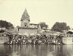 View of Dashashwamedh Ghat - Varanasi (Benares) 1883