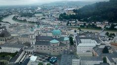 Vista de Salzburgo desde su fortaleza.