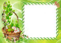 Бесплатные открытки и рамки на Пасху с вашим фото