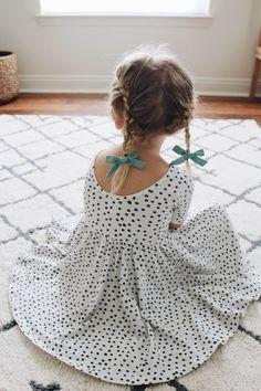 f0d7f0ea6c Scoop neck dot dress for girls  KidsFashionToddler Dresses For Little Kids