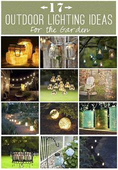 Creating ideas for the garden with lighting is fun, creative and inexpensive. Small lights on a patio overhang edges.
