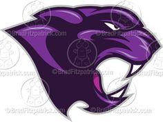 purple panther | Purple Panther Clip Art | Purple Panther Logo Graphics | Clipart ...