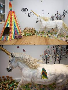 Life-size unicorn cake WOULD BE THE BEST BIRTHDAY CAKE EVER!!!! :P but would take me months to eat it all! I'd have to invite KP and @Breea Nicole  and some other hungry peoples over for a week maybe to get it all eaten :D