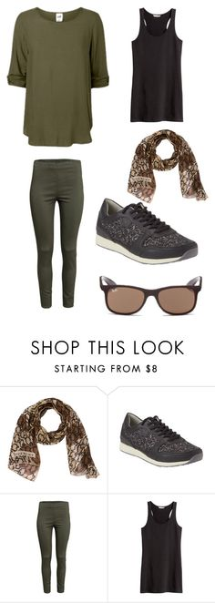 """""""Kaki spring feel"""" by lone-haure-norrevang on Polyvore featuring Givenchy, H&M and Ray-Ban"""