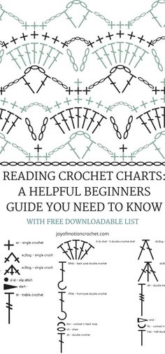 Learn to read crochet charts with this FREE crochet tutorial. Reading Crochet Charts: A helpful beginners guide you need to know!You're interested in learning to read crochet charts. With the Ultimate How to Read Crochet Charts Resource, I've got you Crochet Stitches Chart, Crochet Doily Diagram, Knitting Stitches, Crochet Doilies, Knitting Charts, Crochet Motif, Diy Crafts Crochet, Easy Crochet, Free Crochet
