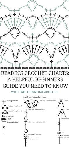 226 best crochet stitches chart images