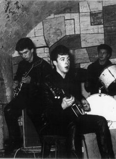 The Beatles playing @ The Cavern