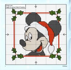 Cross Stitch: Christmas Mickey Mouse